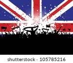 football crowd with banners and ... | Shutterstock .eps vector #105785216