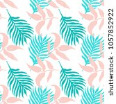 paradise nature seamless floral ... | Shutterstock .eps vector #1057852922