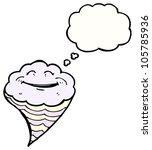 cartoon happy cloud character | Shutterstock . vector #105785936
