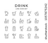 set line icons of drink | Shutterstock .eps vector #1057875242