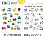 finger prints art. the task... | Shutterstock .eps vector #1057881446