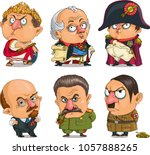 the comic caricature. vector.... | Shutterstock .eps vector #1057888265