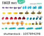 finger prints art. the step by... | Shutterstock .eps vector #1057894298