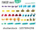 finger prints art. the step by... | Shutterstock .eps vector #1057894298