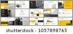 dark grey and yellow elements... | Shutterstock .eps vector #1057898765
