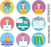 student icon pack | Shutterstock .eps vector #1057900592