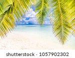 tropical beach nature   Shutterstock . vector #1057902302