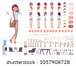 business casual woman character ... | Shutterstock .eps vector #1057908728