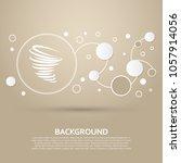 tornado icon on a brown...   Shutterstock .eps vector #1057914056