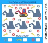 shadow matching game. find the... | Shutterstock .eps vector #1057917446
