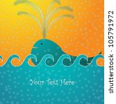 vector illustration of whale... | Shutterstock .eps vector #105791972