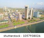 aerial view corpus christi bay... | Shutterstock . vector #1057938026