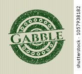 green gabble distress with... | Shutterstock .eps vector #1057938182
