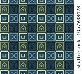 fantastic maze seamless pattern.... | Shutterstock . vector #1057938428