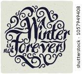 lettering calligraphic... | Shutterstock .eps vector #1057949408