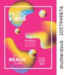 party poster for night club.... | Shutterstock .eps vector #1057949876