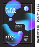 party poster for night club....   Shutterstock .eps vector #1057949882