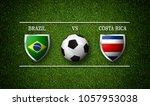 football match schedule  brazil ... | Shutterstock . vector #1057953038