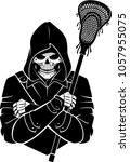 Lacrosse Skull Hooded