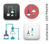 illustration of  chemistry icon | Shutterstock .eps vector #1057956596