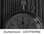 vintage antiques stopwatch ... | Shutterstock . vector #1057956986