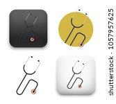 flat vector icon   illustration ... | Shutterstock .eps vector #1057957625