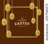 happy easter background with... | Shutterstock .eps vector #1057960472