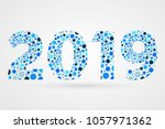 2019 happy new year abstract... | Shutterstock .eps vector #1057971362