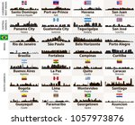 vector set of central and south ... | Shutterstock .eps vector #1057973876