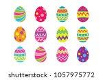 vector illustration  set of...   Shutterstock .eps vector #1057975772