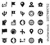 flat vector icon set   compass... | Shutterstock .eps vector #1057989752