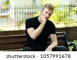 outdore portrait of a man... | Shutterstock . vector #1057991678