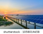 solar panel  photovoltaic ... | Shutterstock . vector #1058014658