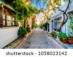 bozcaada streets view. bozcaada ... | Shutterstock . vector #1058023142