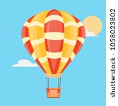 hot air balloon | Shutterstock .eps vector #1058023802