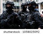 demonstration in managing the...   Shutterstock . vector #1058025092