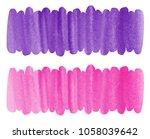 set of watercolor banner...   Shutterstock . vector #1058039642