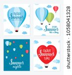 summer vector cards with hot... | Shutterstock .eps vector #1058041328