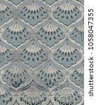 modern damask  highly detailed... | Shutterstock . vector #1058047355