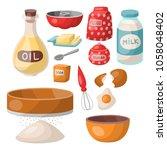 baking pastry prepare cooking... | Shutterstock .eps vector #1058048402