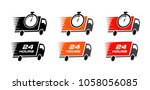 fast delivery  set icons. free... | Shutterstock .eps vector #1058056085
