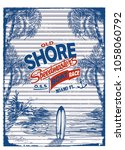 navy shore boat  t shirt print...   Shutterstock .eps vector #1058060792