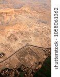 aerial view of houses  desert ... | Shutterstock . vector #1058061362