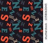 shenzhen creative pattern....   Shutterstock . vector #1058063045