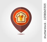 cowshed pin map icon. farm...