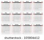 Vector   Calendar Design 2014