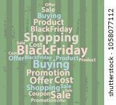 text cloud. sale wordcloud.... | Shutterstock .eps vector #1058077112