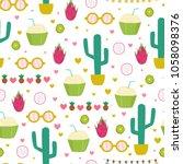 tropical summer seamless... | Shutterstock .eps vector #1058098376