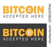 bitcoin accepted sticker icon... | Shutterstock .eps vector #1058102966