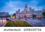 madrid in the evening  spain   | Shutterstock . vector #1058105756